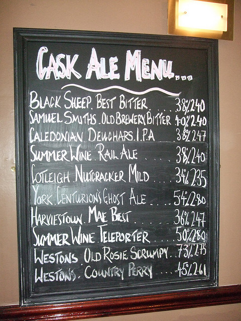 head of steam beer menu