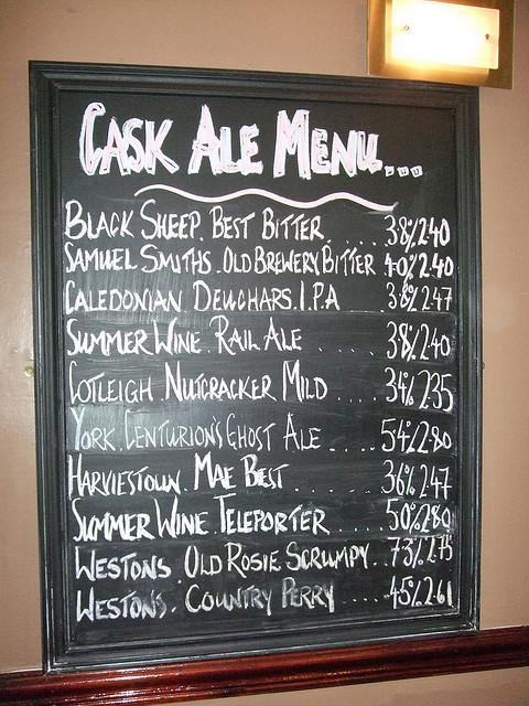head of steam beer menu