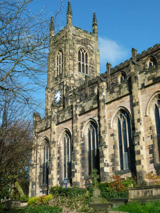 Holy Trinity Church, Huddersfield from the south east.