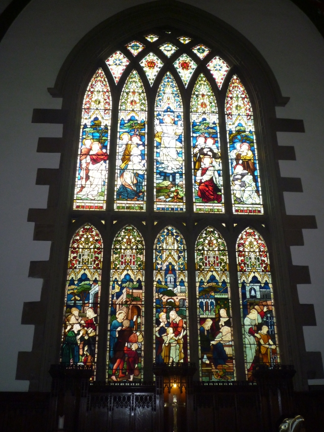 The east window at Holy Trinity Church, Huddersfield.