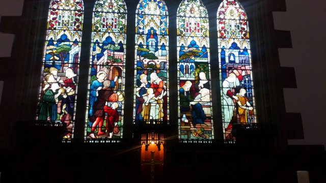 East window of Holy Trinity Church, Huddersfield.