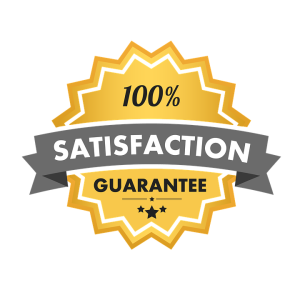 100 percent satisfaction guarentee sign.